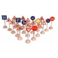 21 Prç. Ahşap Trafik İşaretleri