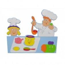Aşçı ve Yardımcısı (100 cm)